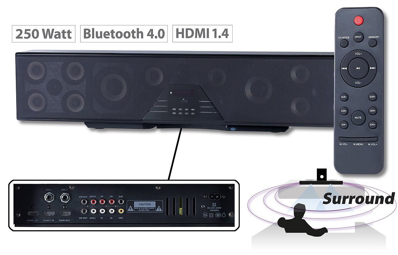 Soundbar Auvisio ZX1603-944