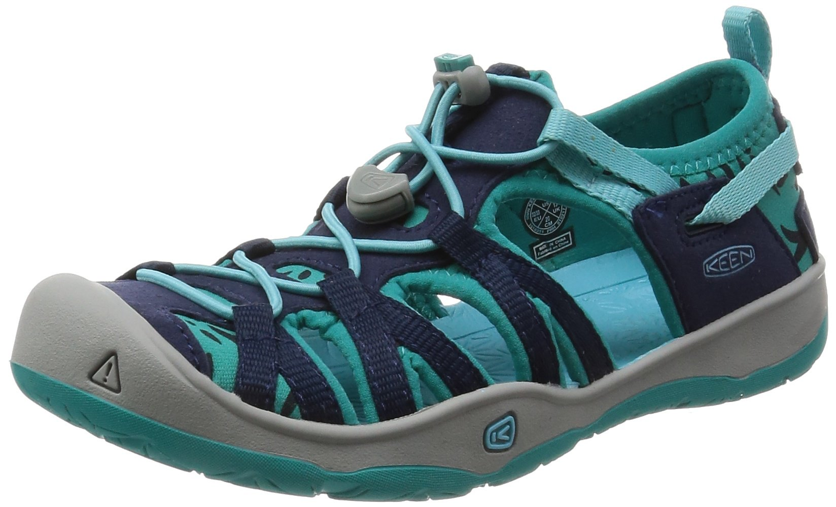 KEEN Baby Moxie Sandal, Dress Blues/Viridian, 10 M US Little Kid by KEEN
