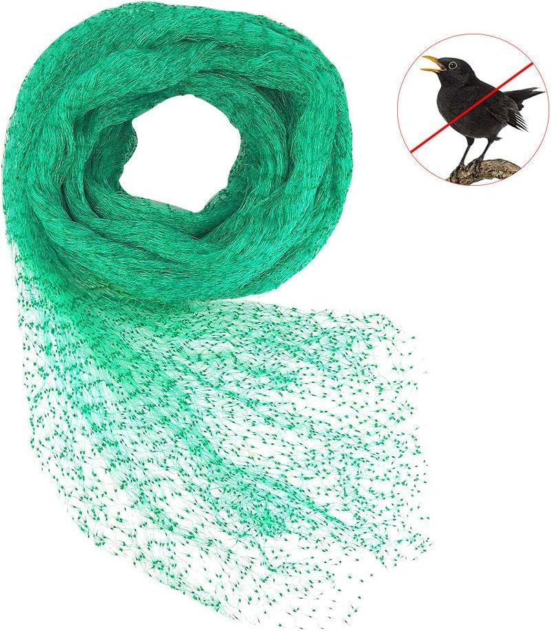 CODIRATO Red para Pájaros, 4m x 10m Red para Estanque Multiusos Malla de Protección de PE para Frutas, Plantas, Verduras, Jardín (Verde, 1,5x1,5 cm Agujeros)