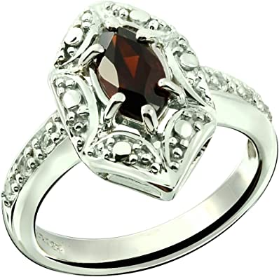 USA Seller Ring Sterling Silver 925 Black Rhodium Plated Jewelry Gift Selectable