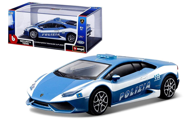 Bburago - Modelo a Escala Lamborghini Huracán - Coche de Policía - Modelo n. 18-30309