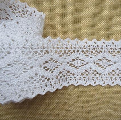 25Y White Organza Chiffon Ribbon Vintage Net Lace Edge Trim Wedding Party Sewing
