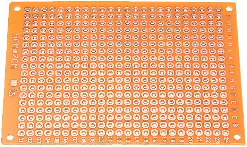 3pcs DIY 5x7 Prototype Paper PCB Universal Experiment Matrix Circuit Board Low Heat Generating,Reverse Polarity Protection Cvmnkljfge Electronic DC Motor Speed Controller