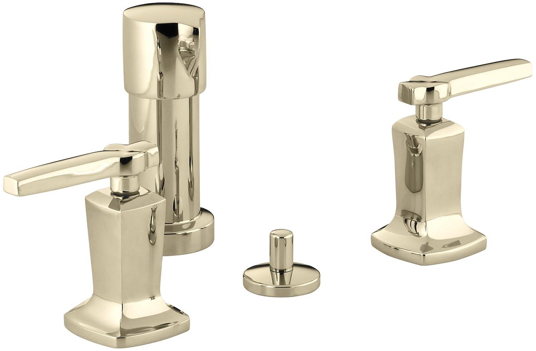 Kohler K 16238 4 Cp Margaux Bidet Faucet Polished Chrome Amazon Com