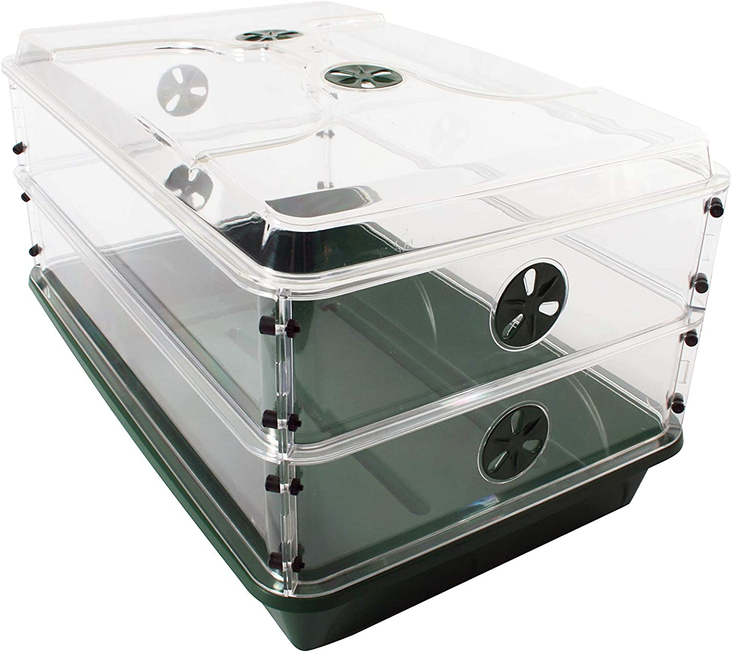 EarlyGrow 93807 Domed Propagator with Height Extenders