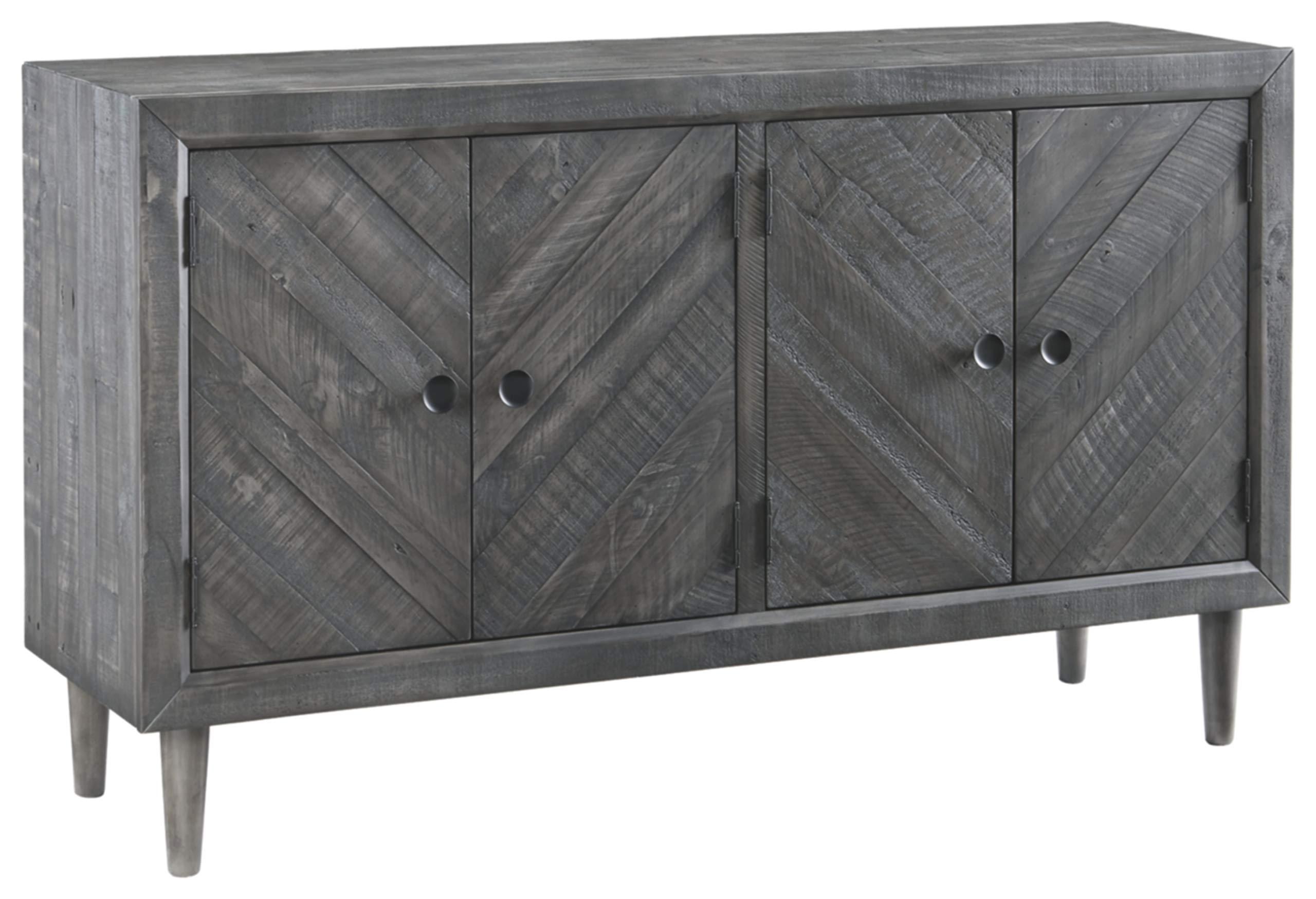Signature Design by Ashley D568-60 Besteneer Dining Room Server, Dark Gray