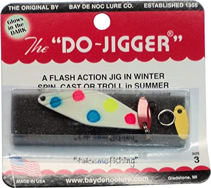 Do-Jigger Size 3 TWO Packs Custom Painted Glow Wonderbread Made in USA #3DJGWB
