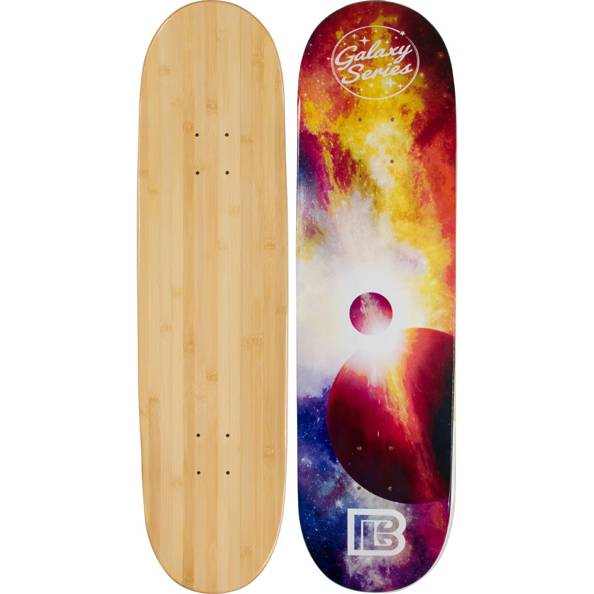 Bamboo Skateboards Galaxy Series: Eclipse Skateboard Deck (8.0'')