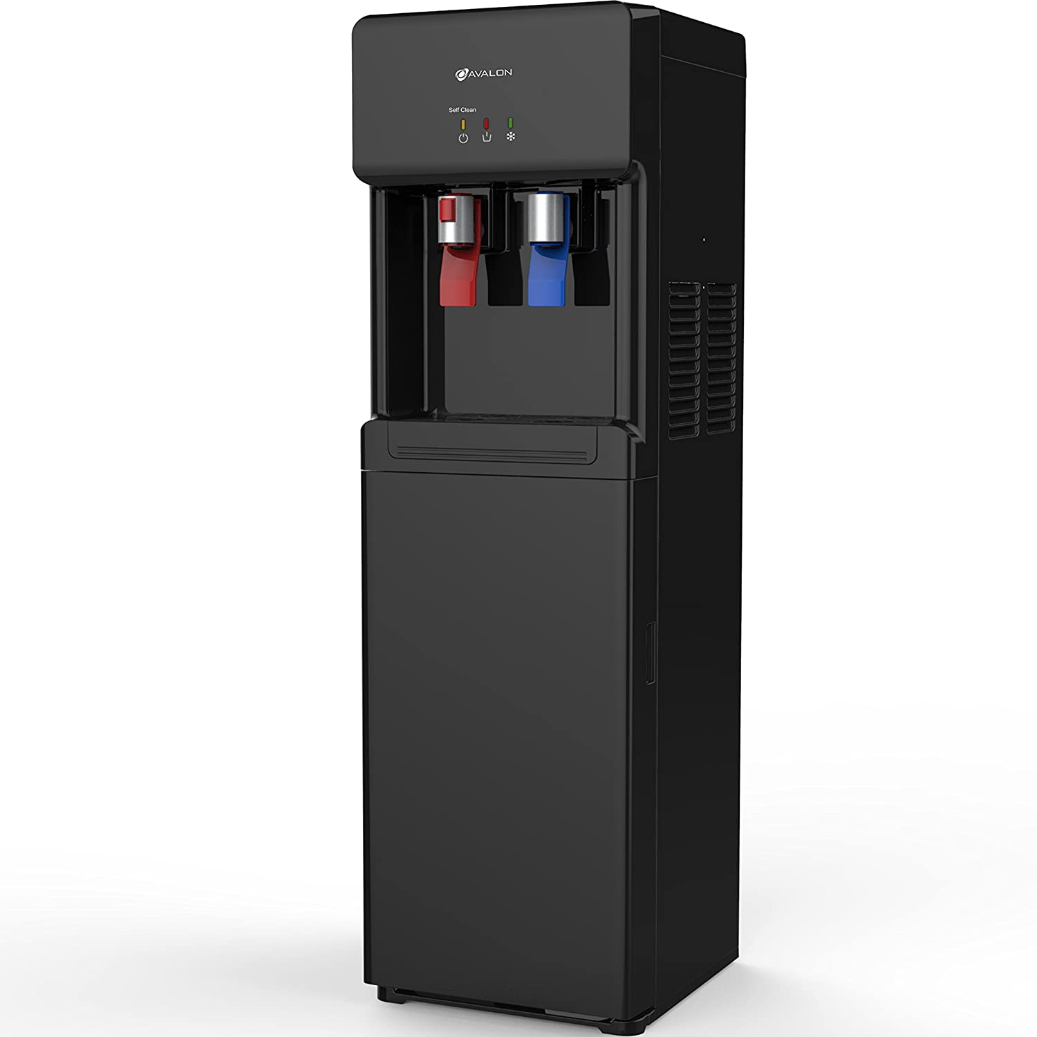Avalon A6BLWTRCLRBLK Bottom Loading Cooler Dispenser-Hot & Cold Water, Child Safety Lock, Innovative Slim Design, Holds 3 or 5 Gallon Bottles-UL/Energy Star Approved-Black