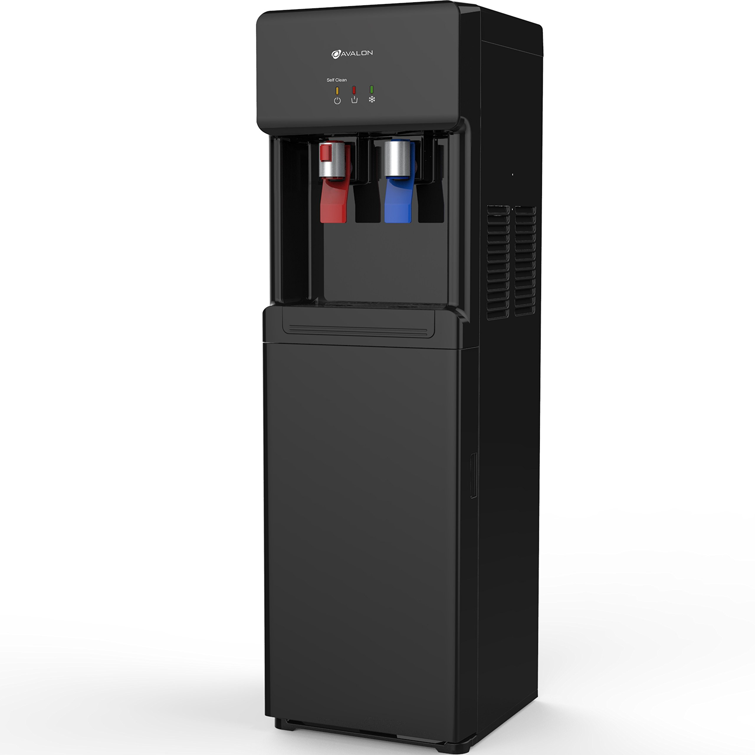 Avalon Self Cleaning Bottom Loading Water Cooler Dispenser -Hot & Cold Water, UL/Energy Star Approved, Black