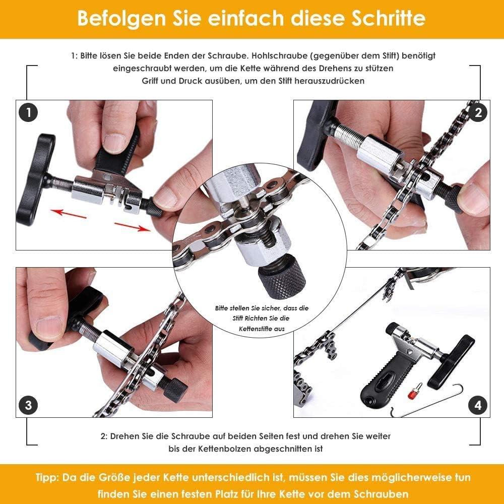 WOTOW Kit de Herramientas de reparaci/ón de Cadena de Bicicleta removedor e Interruptor de Cadena Conector Reutilizable para Cadena de Velocidad 6//7//8//9//10 alicates de Enlace Maestro de Bicicleta