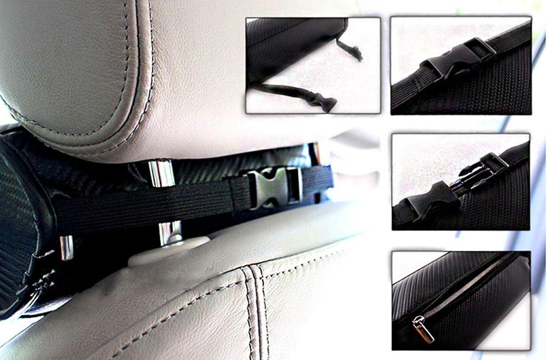 2 Piezas Almohadas Circulares De Fibra De Carbono para El Cuello Coj/íN del Asiento De Coche Reposacabezas Almohada para BMW M3 M5 M6 Y Otros Modelos De La Serie M