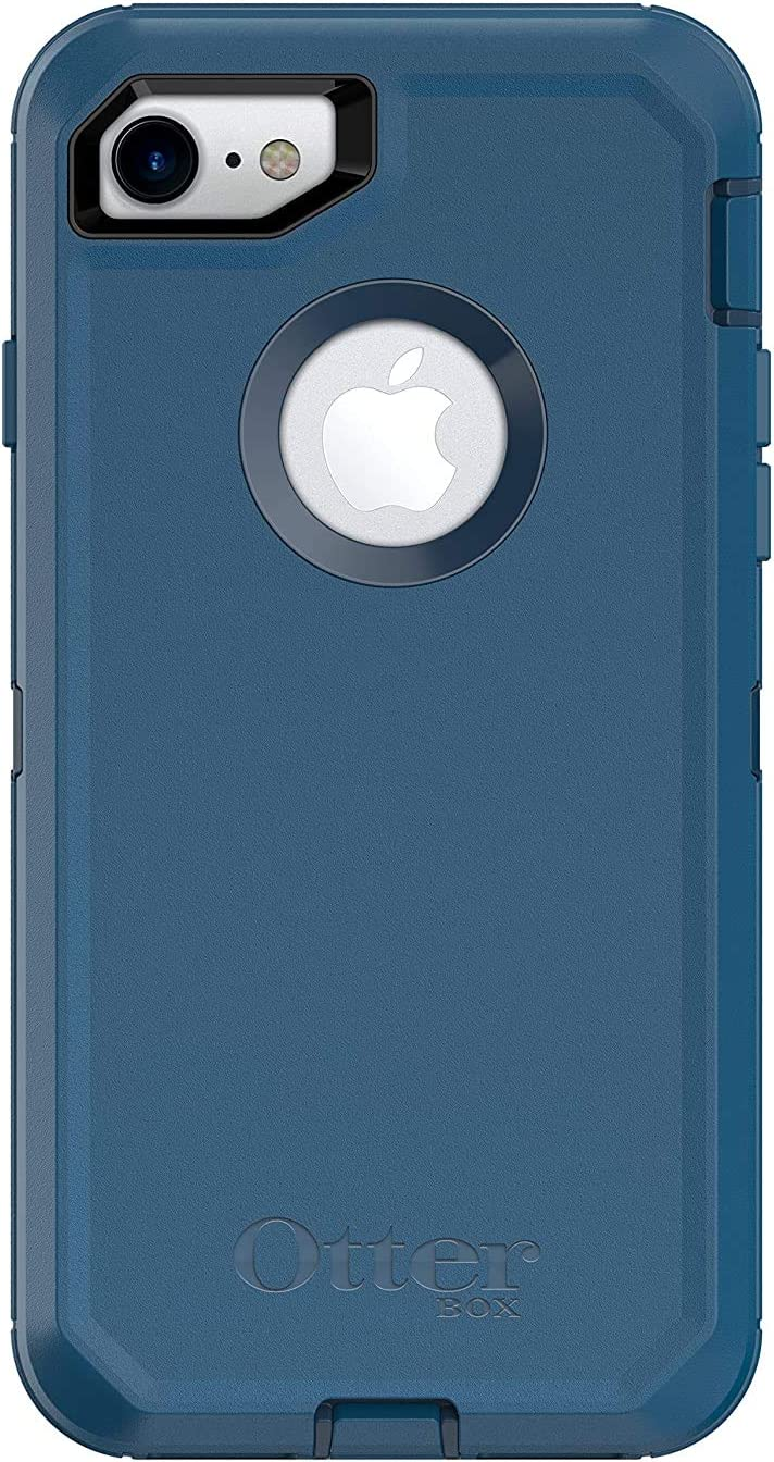 OtterBox Defender Series Case for iPhone SE (2020), iPhone 8, iPhone 7 (NOT Plus) - Case Only - Non-Retail Packaging - Stormy Seas Blue/Blazer Blue