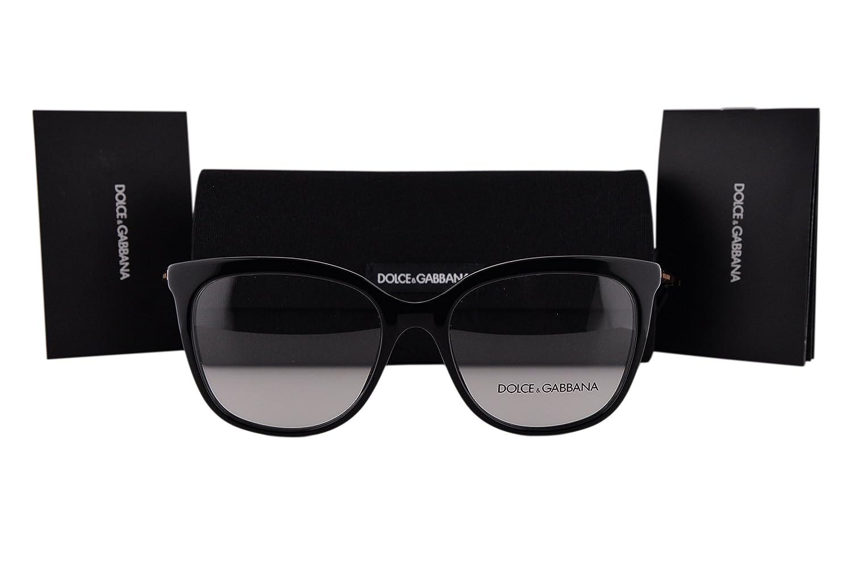 952614f7622 Dolce   Gabbana DG3259 Eyeglasses 53-17-140 Black 501 DG 3259   Amazon.co.uk  Clothing