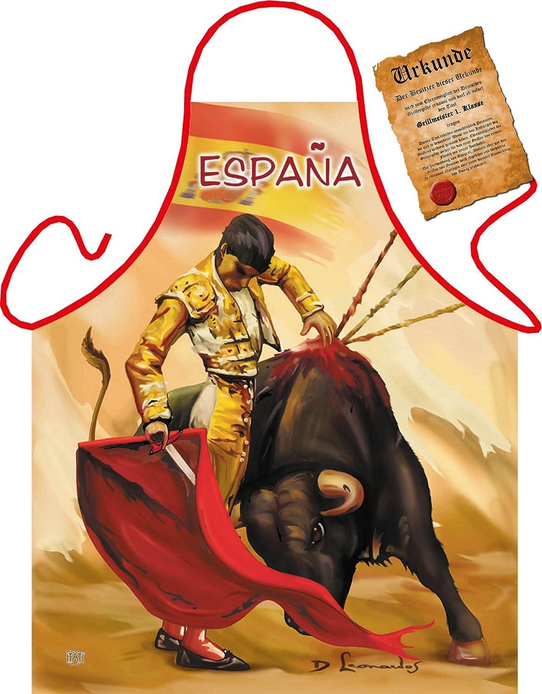 /Foto Fun grembiule/ /Con Gratis urkunde Spagna Espana Tor rero Torero/
