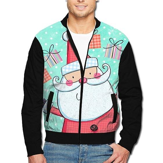 mens fashionable christmas gift santa deer tree 3d graphic raglan jacket hip hop color block hooded - Christmas Jackets
