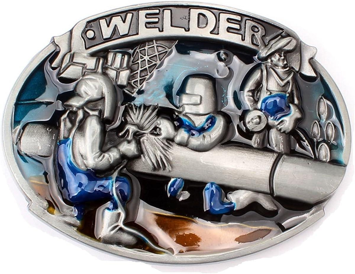 Amazon Com Men S Welder Belt Buckle Western Cowboy Native American Bbfa Wdr 02 Jewelry
