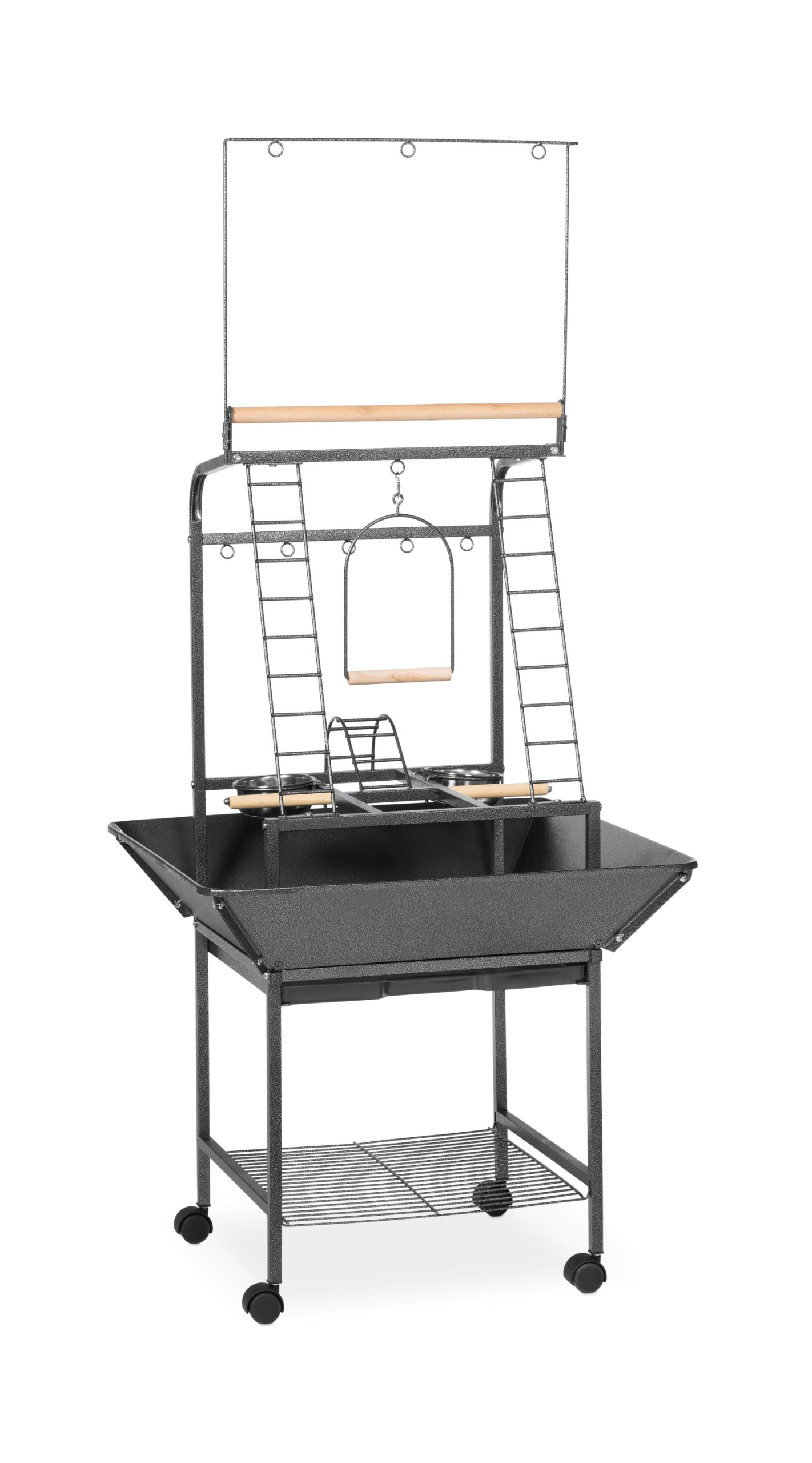 Prevue Pet Products Small Parrot Playstand 3181 Black Hammertone, 17.625-Inch by 16-1/2-Inch by 59-Inch by Prevue Pet Products