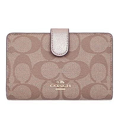 1e0d05063854 [コーチ] COACH 財布 (二つ折り財布) F23553 カーキ×プラチナ IMCA9 シグネチャー