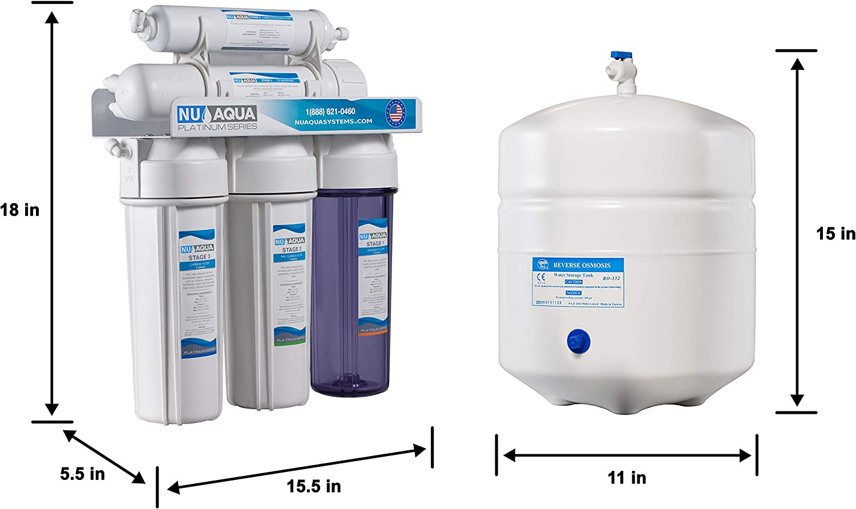 Nos Aqua Platinum Series – Alta capacidad 5-Stage bajo fregadero ...