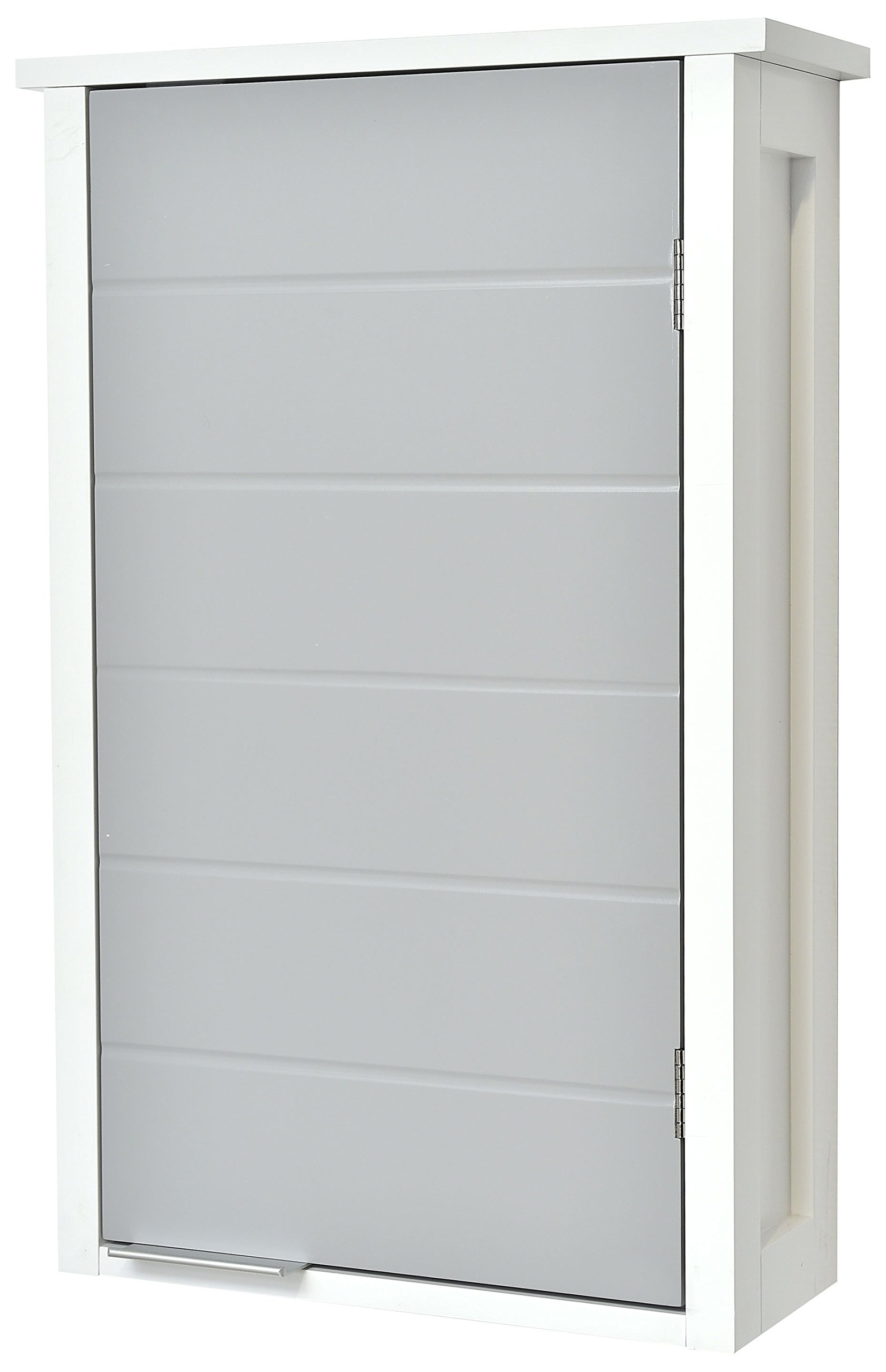 EVIDECO 9903208 Wall Mounted Bathroom Cabinet 1 Door-Modern D-White and Grey