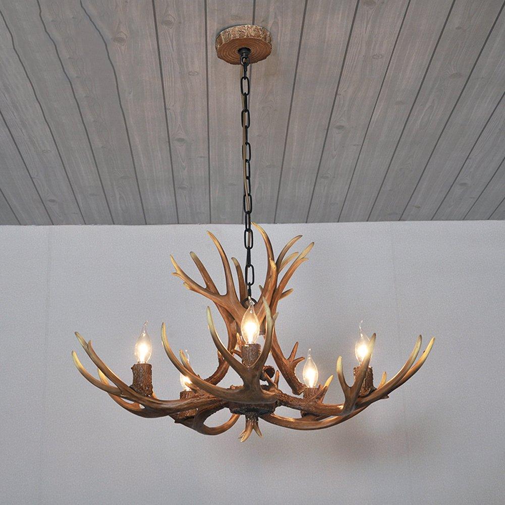 Pendelleuchte Hangende Lampen New Retro Geweih Kronleuchter Schlafzimmer Lampe Restaurant Bar Cafe Kreative Personlichkeit American Country Hotel Bar Leuchte By Drm Grosse 5 P