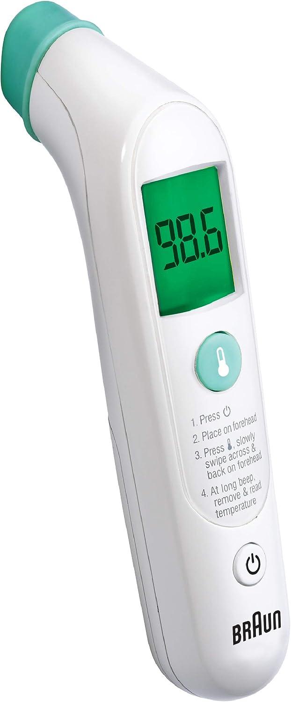 Braun, TempleSwipe Forehead Thermometer, White