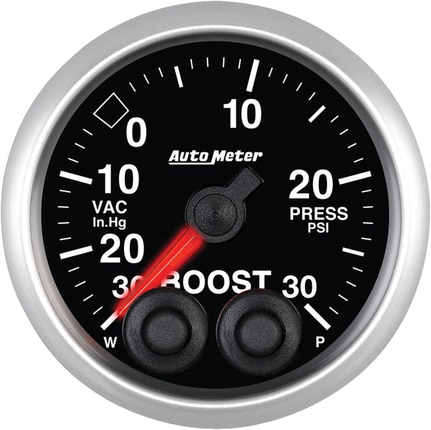 "Auto Meter 5677 Elite 2-1/16"" 30 in Hg-30 PSI Boost-Vacuum Gauge"