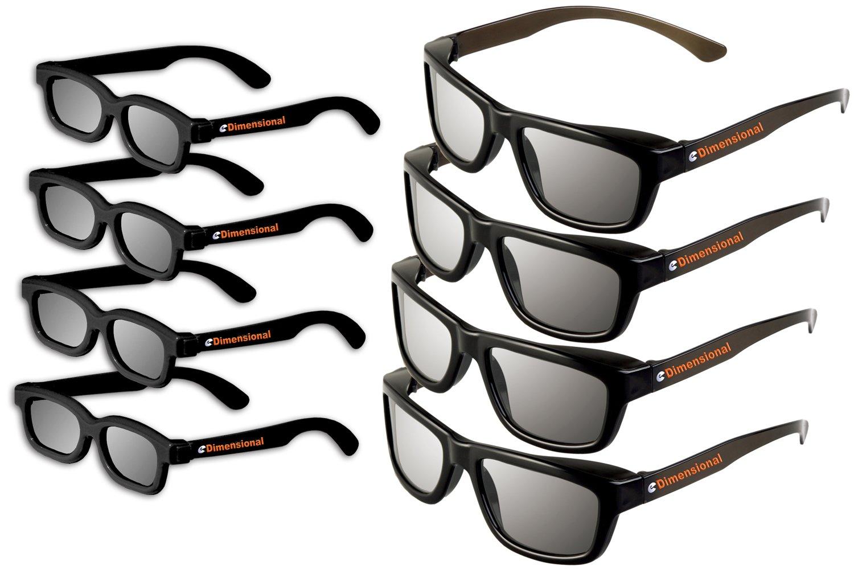 ED 8 Pack Cinema 3D Glasses for LG 3D TVs Adult & Kids Sized Passive Circular Polarized 3D Glasses!