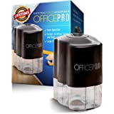 OfficePro Electric Pencil Sharpener - For School and Classroom, Helical Steel Blade Sharpens All Pencils Including Color, Auto-Stop Feature, Ultra-Portable - Batteries Included (Pencil Sharpener)