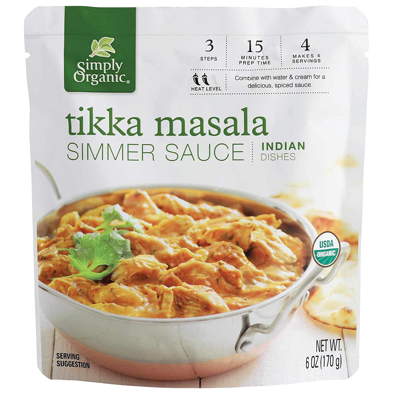 Simply Organic Tikka Masala Simmer Sauce, Certified Organic   6 oz