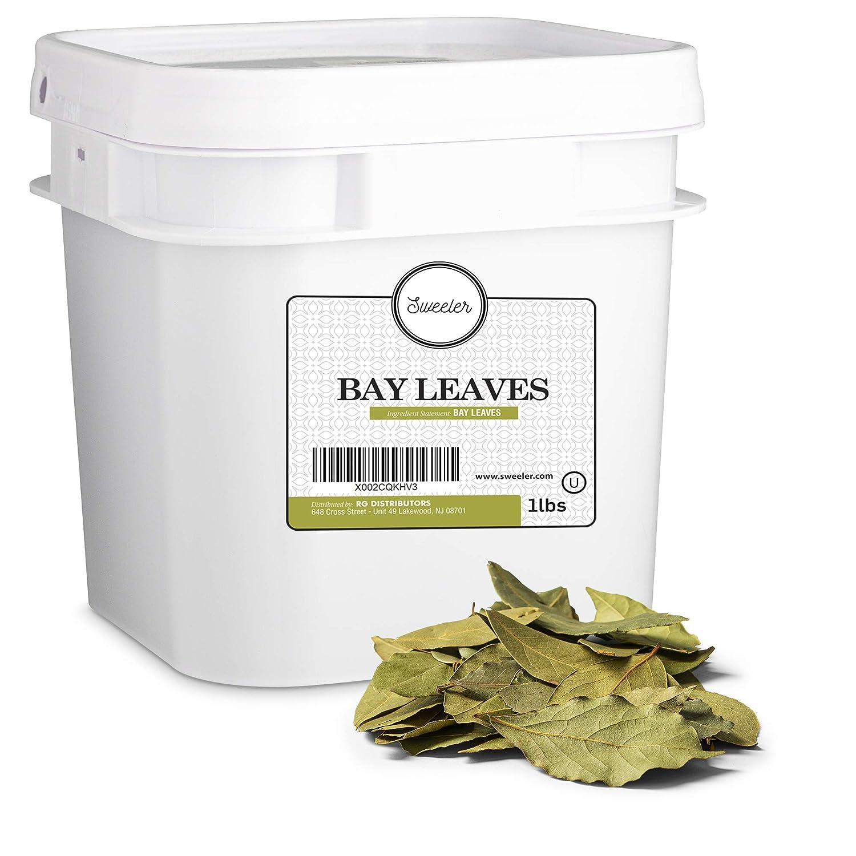 Sweeler, Bulk Bay Leaves, Value Large Bucket Size for Food Service & Home Use, 1lbs (16oz)