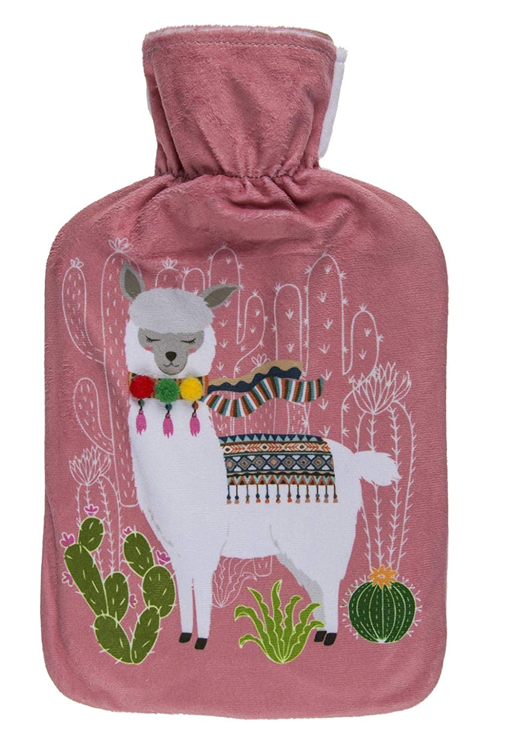 Perfect Gift Present - Keep Warm in Bed This Winter - Green Llama Design hot Water Bottle - Perfect for Christmas, Birthdays Stocking Fillers & Secret Santa