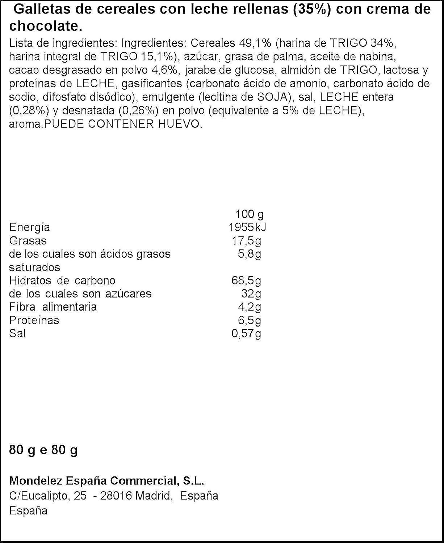 Principe galleta - Sandwich relleno de chocolate(e 80 g): Amazon.es: Alimentación y bebidas