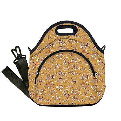 ed5198a12d83 Amazon.com: Insulated Lunch Bag, Neoprene Lunch Tote Bags, Ocean ...