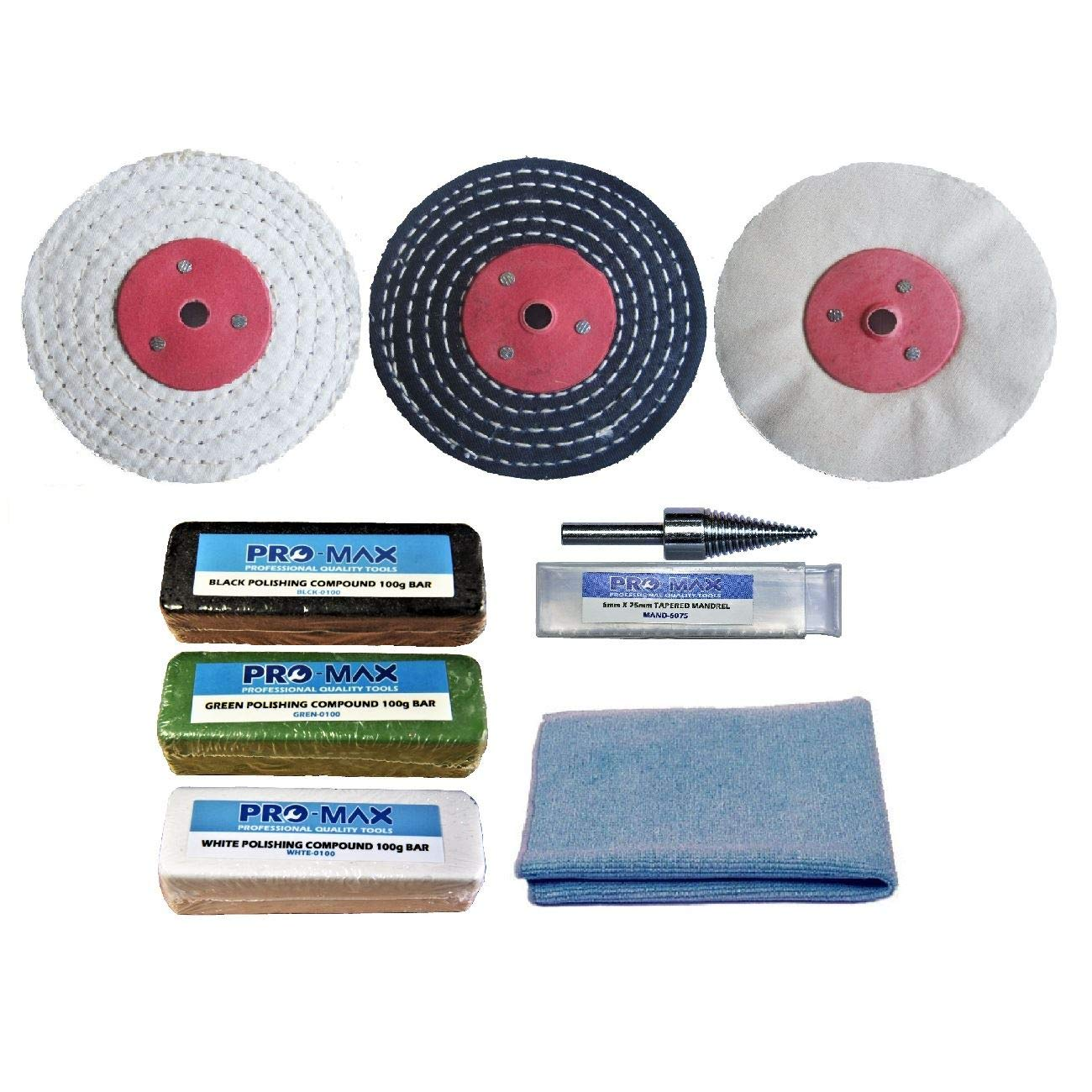 Steel & Stainless Steel 4' x 1' Metal Polishing Buffing Kit Pro-Max Pro-Max Quality Tools & Accessories