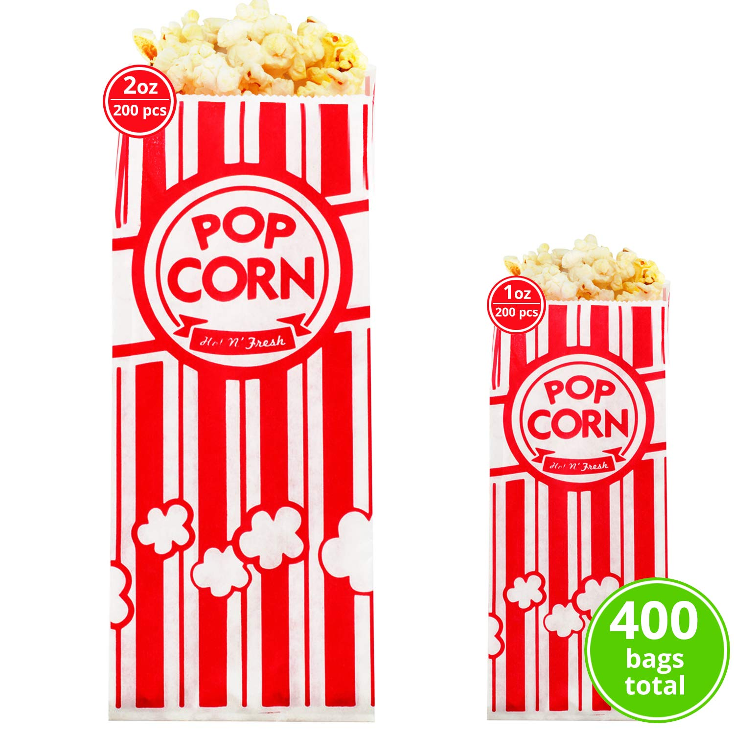 Carnival King Paper Popcorn Bags 1oz (200 Pieces) - Popcorn Bags 2 oz (200 Pieces) - Popcorn Bags for Party Bundle - Complimentary CUSINIUM Coasters, Ebook by Carnival King