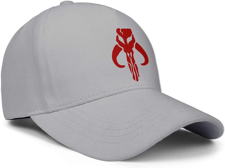 SweaterWg7 Unique Dad Hats for Men Womens Mandalorian-Skull-Symbol-red Adjustable Flat Caps
