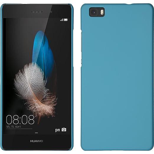 4 opinioni per Custodia Rigida per Huawei P8 Lite- gommata azzurro- Cover PhoneNatic +