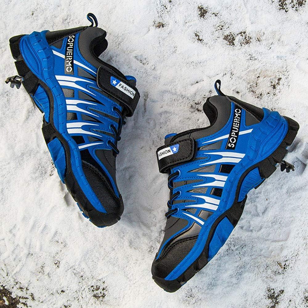 HSNA Chaussures de Randonn/ée Basses pour Enfants Gar/çons Fille Anti-d/érapant Chaussures de Sports Baskets Bottes de securite Imperm/éable 26-40
