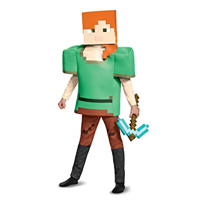Alex Deluxe Minecraft Costume, Multicolor, Large (10-12): Toys & Games