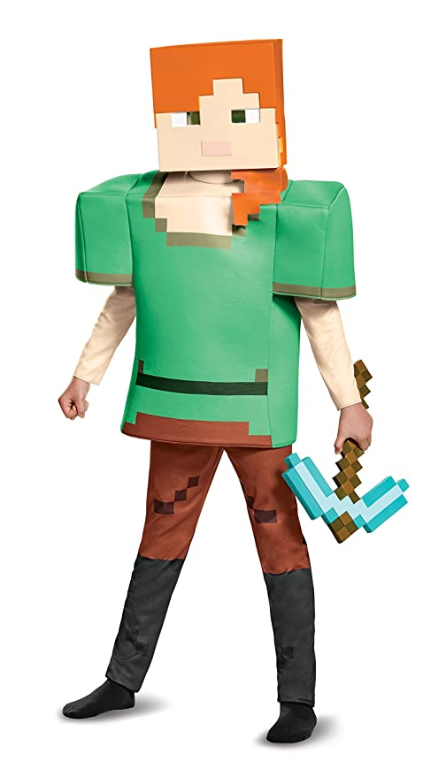 Alex Deluxe Minecraft Costume Multicolor Medium