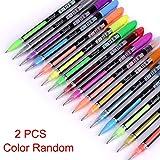 Tomasa Bolígrafos de Gel Plumas de Gel Pastel Glitter Colored Gel Pen Drawing Dibujo Marker Pen