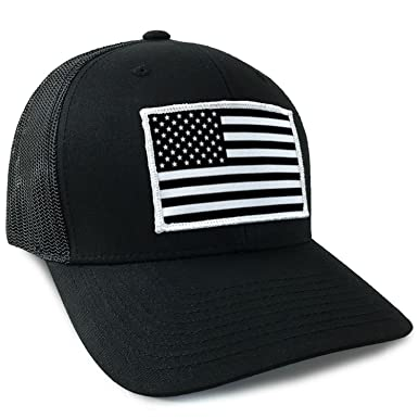 Amazon.com  American Flag USA Flexfit Mesh Tactical Trucker Snapback ... 463f5dc556d