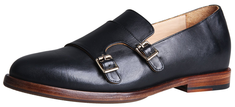 ELANROMAN Men's Oxfords Genuine Leather Dress Handmade Lace up Shoes Luxury Increase Monk Strap Wedding Shoes by ELANROMAN
