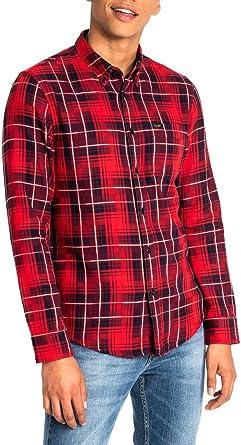 Lee Camisa Button Down Rojo Hombre Small Rojo: Amazon.es ...