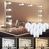 LED Vanity Mirror Lights, Make Up Light for Mirror Dimmable Brightness 10LED Light Bulbs Lighting Fixture Strip for Vanity Ta