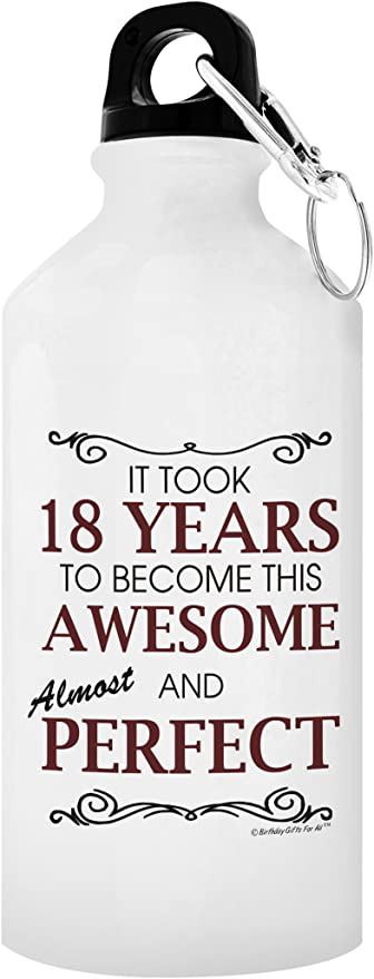 Omg Im An Adult Now funny 18th Birthday 18 Party Eighteen Adult Water Bottle with with Screw top Lid White Stainless Steel 20 Oz