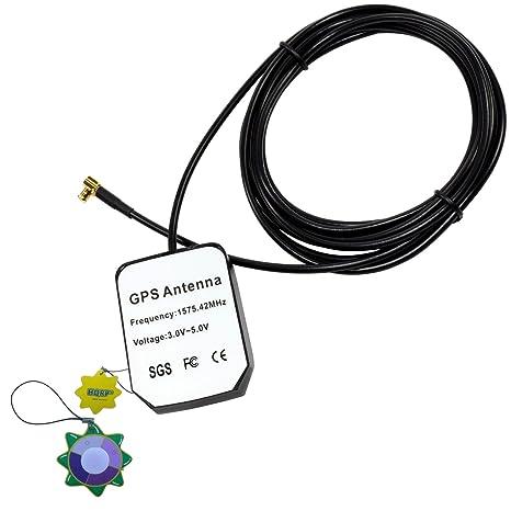 HQRP Antena externa GPS amplificada 1575.42 MHz de montaje magnético para GPSMAP 96 C (010