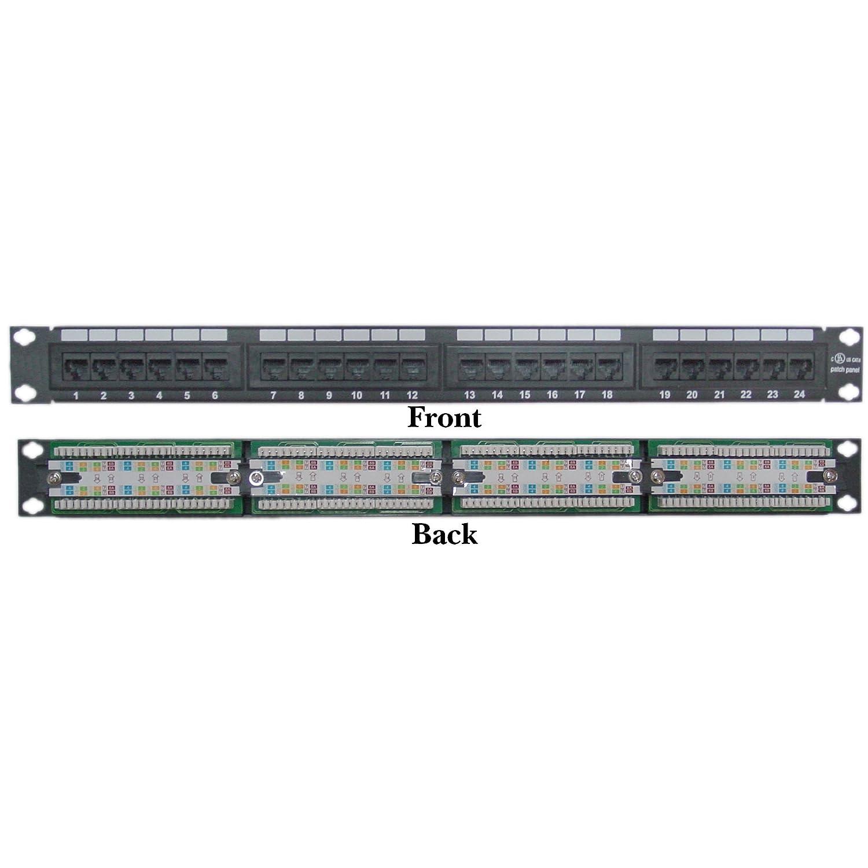 ACL 1ユニットラックマウント24ポートcat6パッチパネル、水平110タイプ568 A & 568b互換 ACL-560198 10  B074TC9LQG